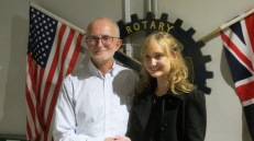 Andrea Mellon representing the Rotary e-Club of South Africa One