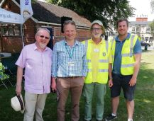 l-r Mike Challinor, Cllr Simon Jacobs, Cliff Evans, Graeme Morrison